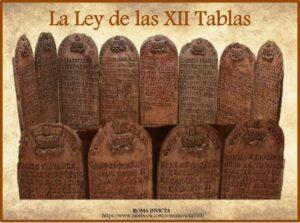 Las XII Tablas como antecedente del código napoleónico