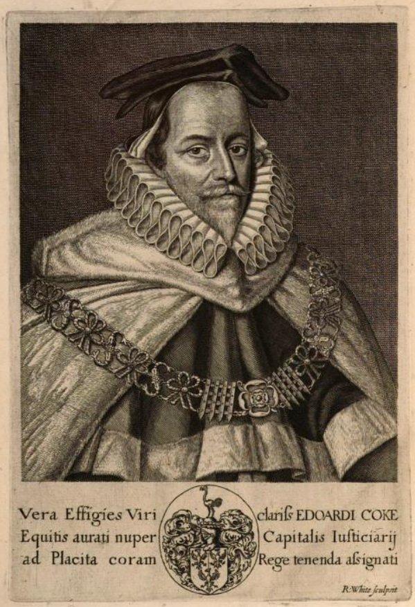 Retrato de Sir Edward Coke - Año 1669